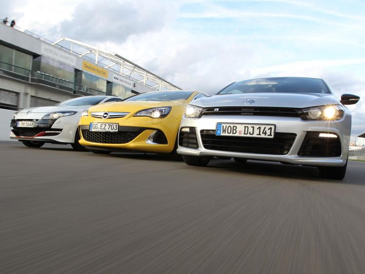 Bilder-Opel-Astra-OPC-Renault-Megane-RS-VW-Scirocco-R-2012
