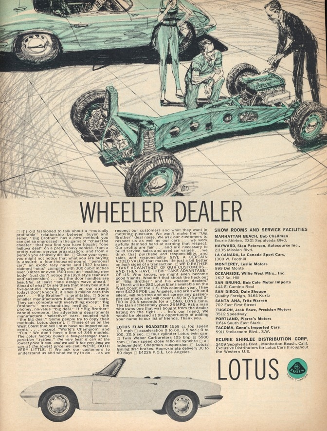 Wheele dealer Lotus Elan