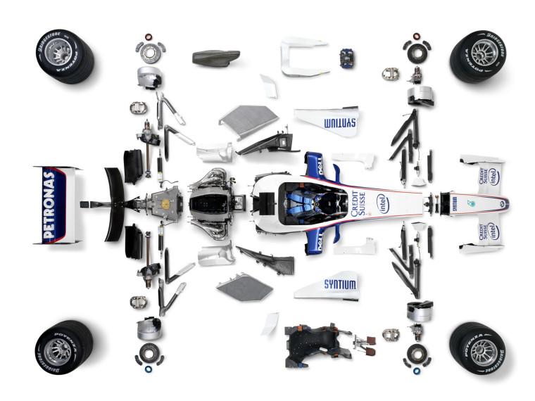 BMW Sauber F1.07 despiece