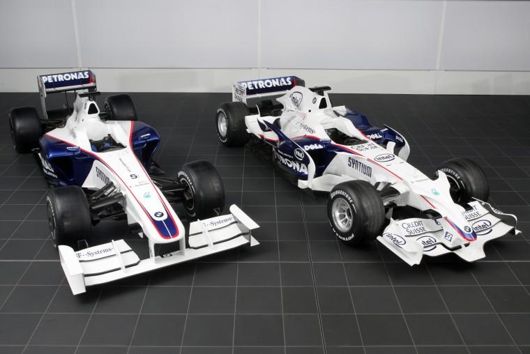 BMW Sauber F1.08 (derecha) y F1.09 (izquierda).